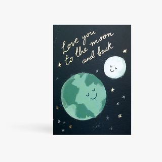 Love You To The Moon Card  main image