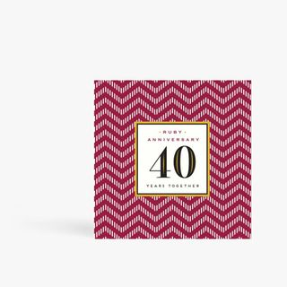 Ruby anniversary 40 years together card main image