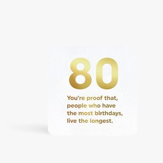 Quotish 80 is a lot birthday card main image
