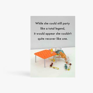 Party like a total legend birthday card main image