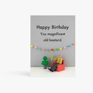 Magnificent old birthday card main image