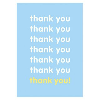Blue and yellow thank you card main image