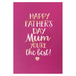 You're the best mum Father's day card main image