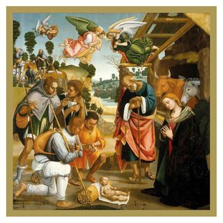 Adoration of Shepherds Christmas cards - pack of 5 main image