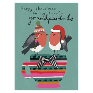 Lovely grandparents robins Christmas card main image