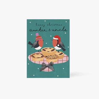 Auntie & Uncle Mince Pies Card main image
