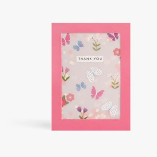 Thank You Shakies Butterfly Card  main image