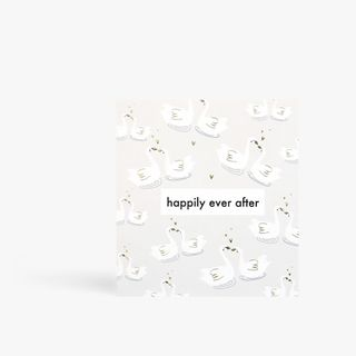Happily Ever After Swans Card  main image