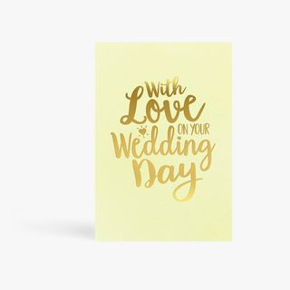 With Love Wedding Day Card main image