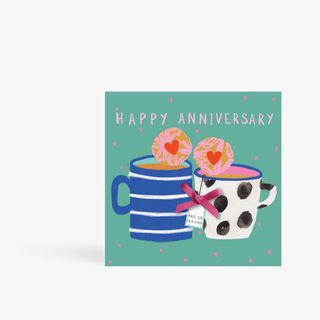 Tea And Biscuits Anniversary Card main image