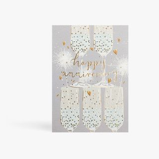 Anniversary Champagne Flutes Card main image
