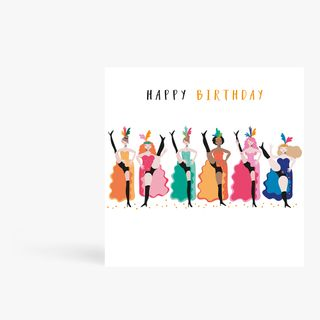 Can-Can Girls Birthday Card  main image