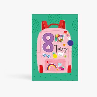 8 Today Backpack Birthday Card main image