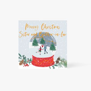 Sis and Brother-In-Law Snow Globe Card main image