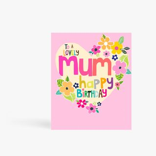 Lovely Mum Floral Heart Card main image