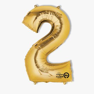 Number 2 Gold Balloon main image