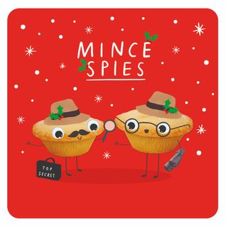 Mince spies Christmas card main image