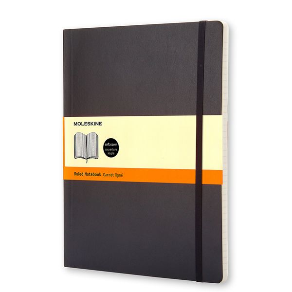 Moleskine extra large ruled soft cover notebook