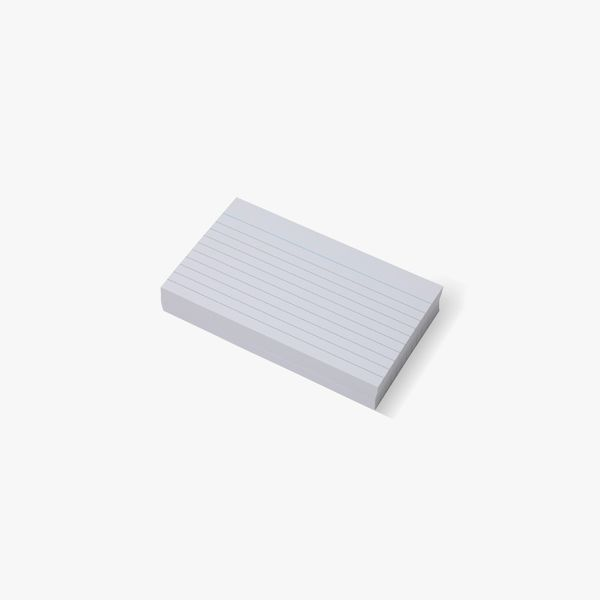 100 Small Lined Index Cards