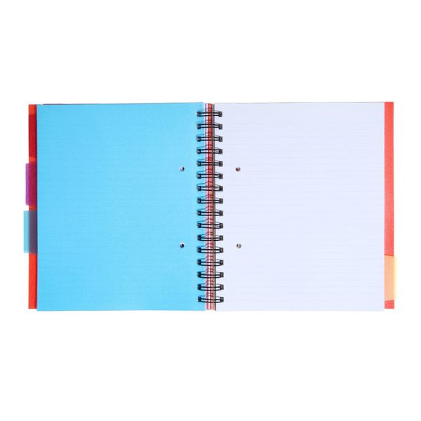A5 Red 4 subject notebook