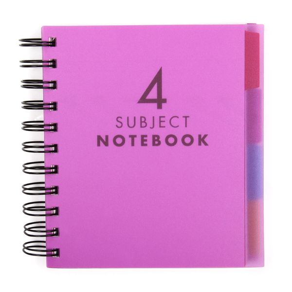 A6 Purple 4 subject notebook