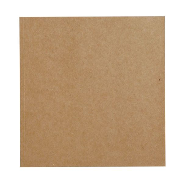 Kraft square cream notebook with plain pages