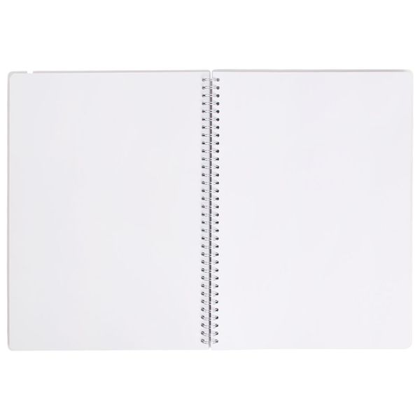 Frosted A4 plain pages notebook