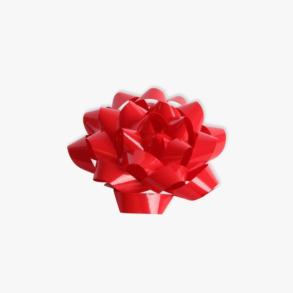 Red glossy self adhesive gift bow