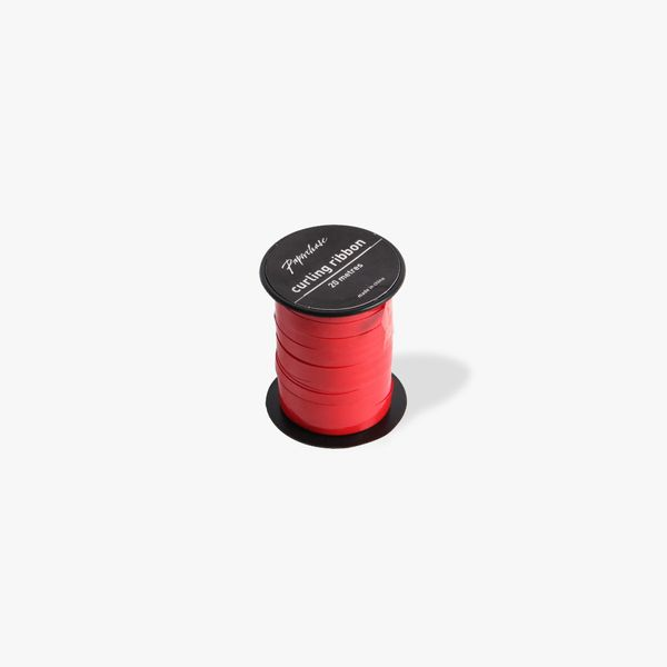 Red glossy curling ribbon - 20 metres