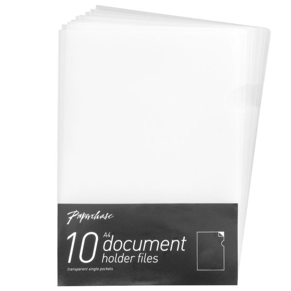 A4 Clear Document Holders - Pack of 10