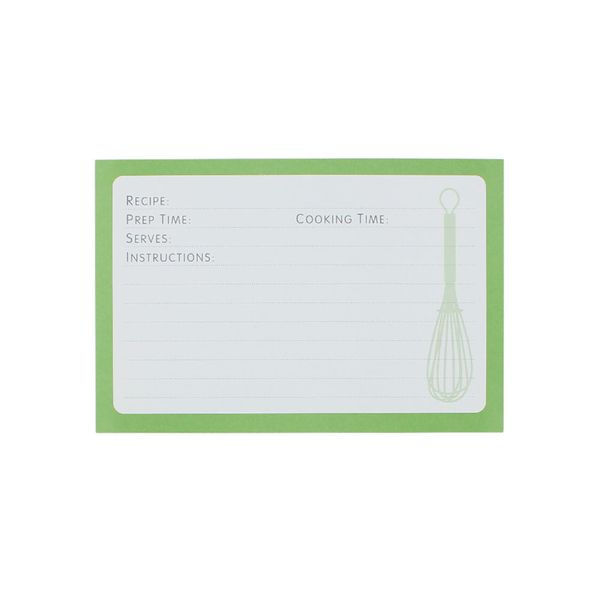 Recipe book refill cards