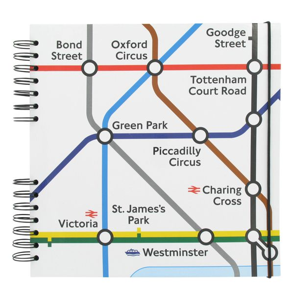 All Change London tube map square scrapbook