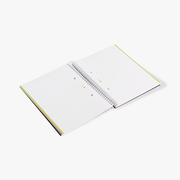 A5 6 part ruled black notebook