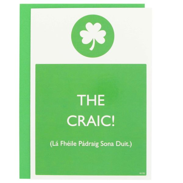 The craic St Patrick's day card