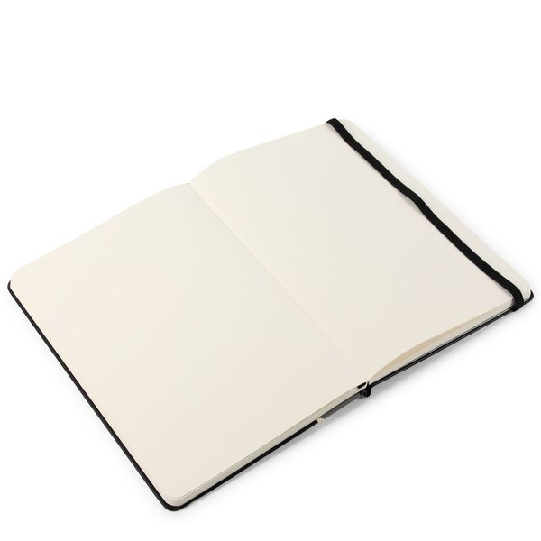 Agenzio medium black hardback plain notebook