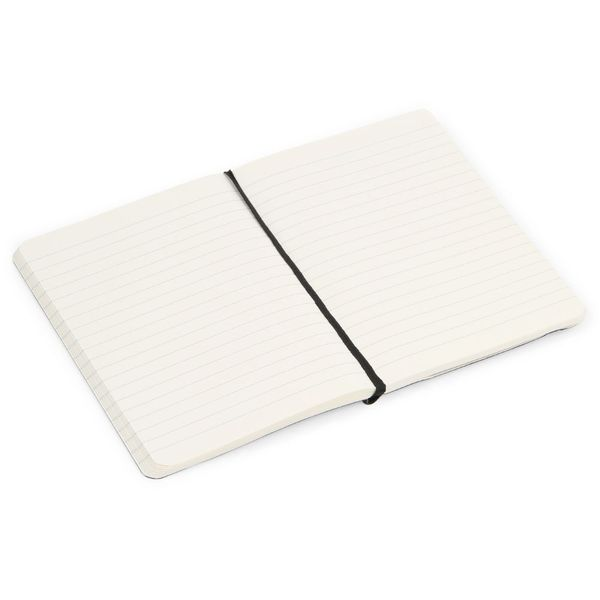 Agenzio small black soft lined notebook