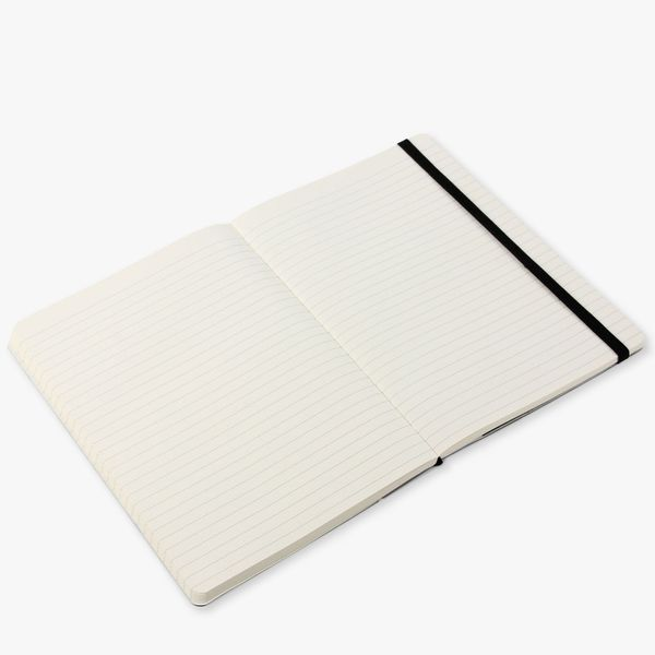 Agenzio Large Lined Notebook - Black