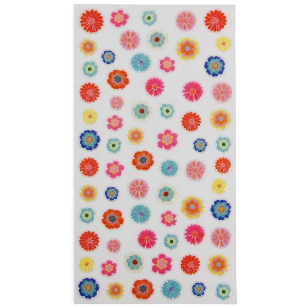 Bright floral stickers