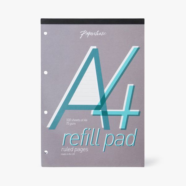 A4 White Lined Refill Pad