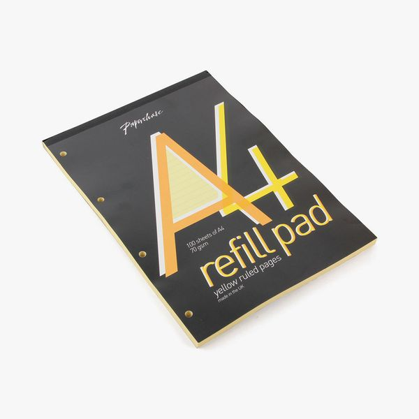 A4 Yellow Lined Refill Pad