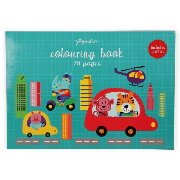 All Aboard colouring book