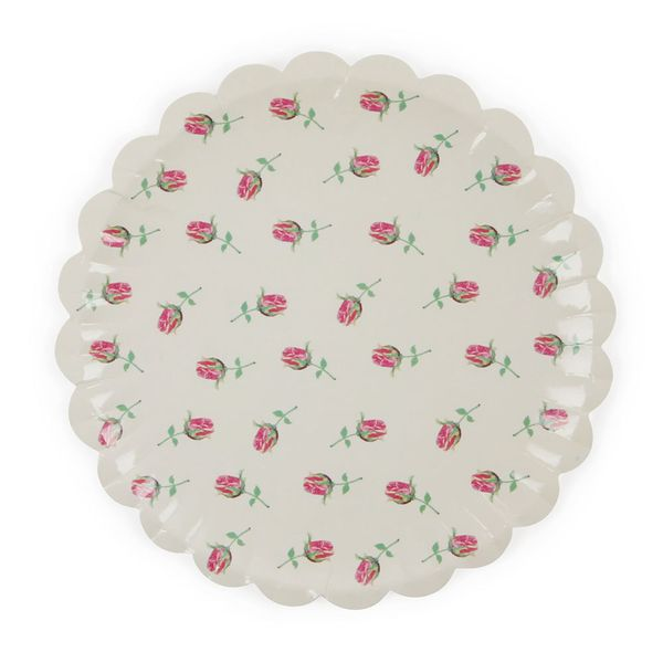 Garden Party mini paper plates - pack of 10