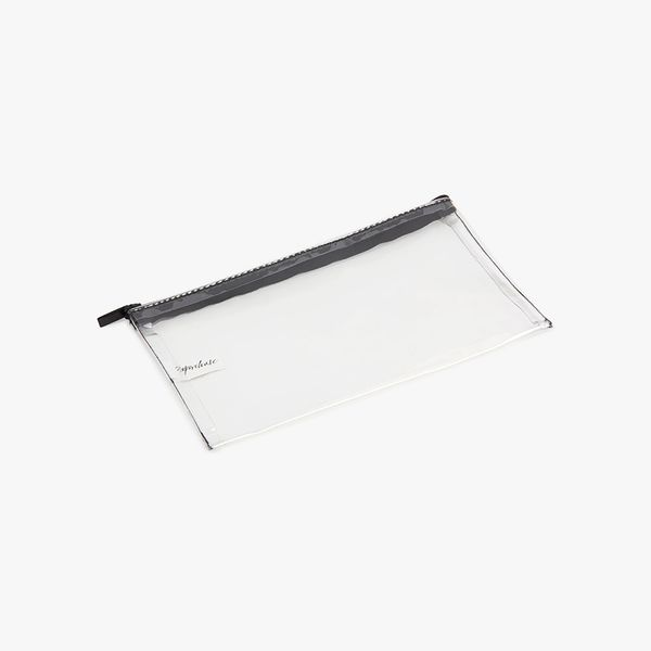 Clear Pencil Case with Black Zip