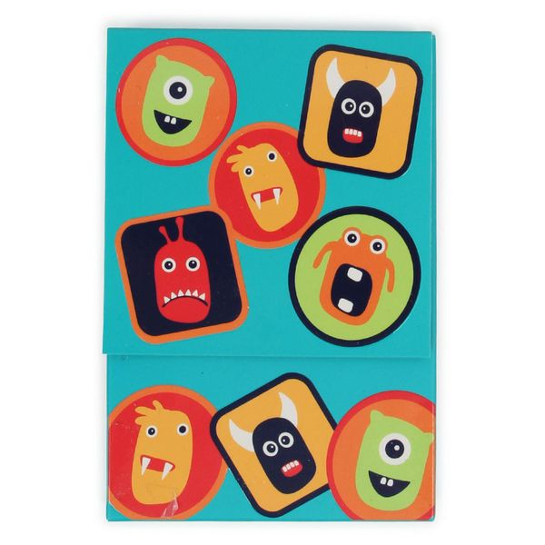 Monster notecards and stickers - box of 10