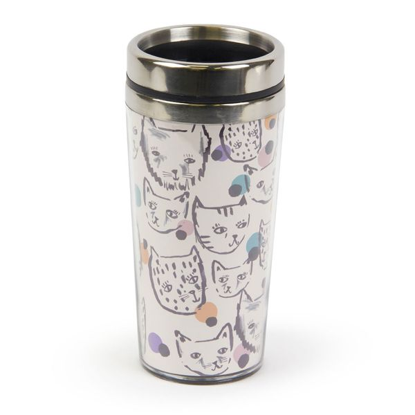 Polka cats insulated cup