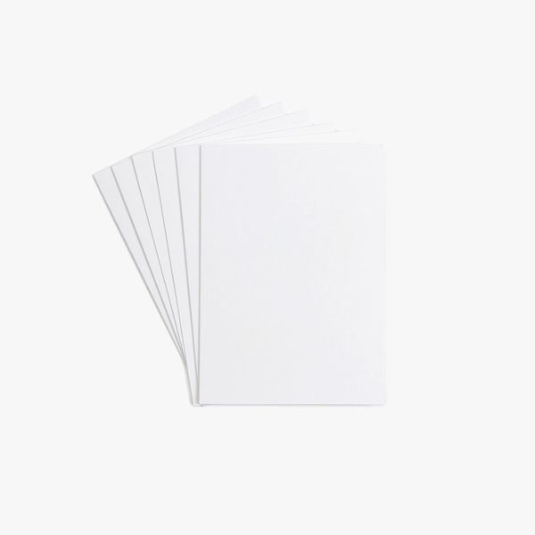 A6 folded blank white cards - pack of 8