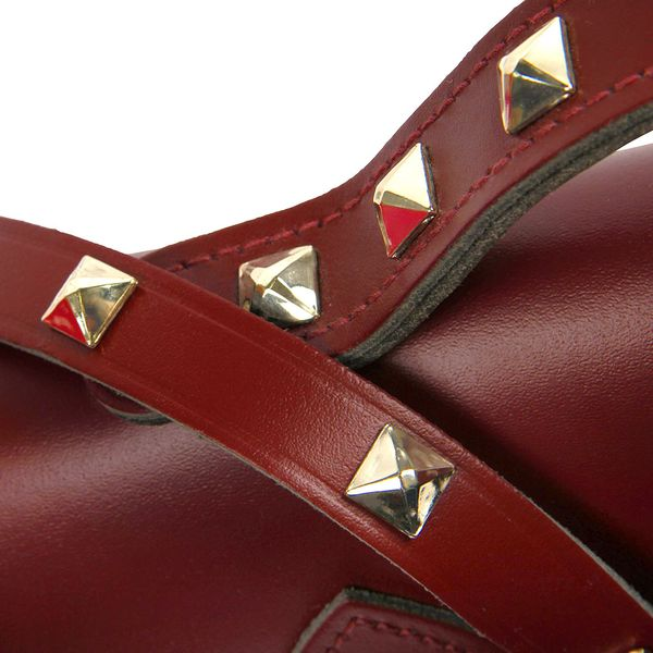 Cambridge Satchel 13 inch oxblood with studs