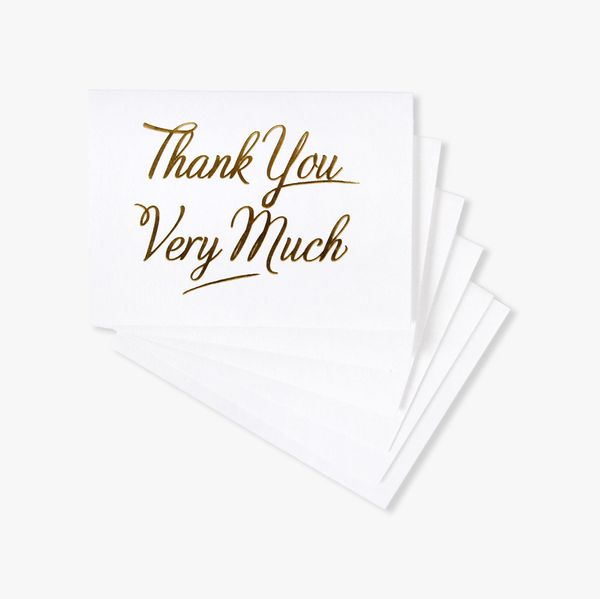 Gold folded thank you very much 10