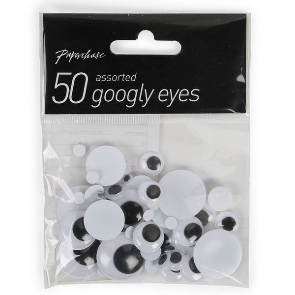 50 assorted googly eyes