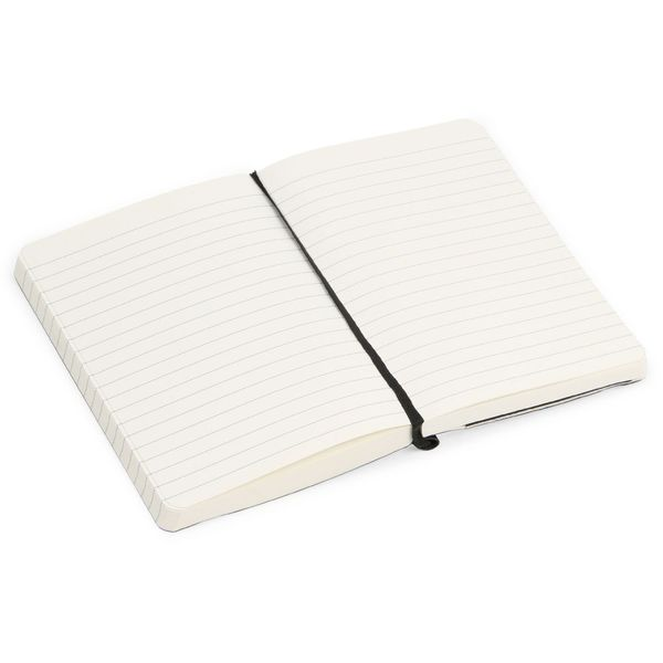 Agenzio small thick black soft ruled notebook